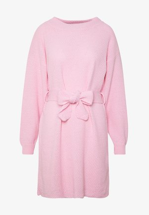 DRESS WITH BELT - Robe pull - pale pink