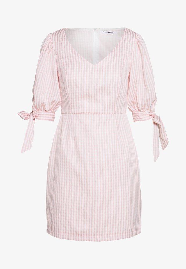 PUFF SLEEVE MINI DRESS - Vestito estivo - dusty pink