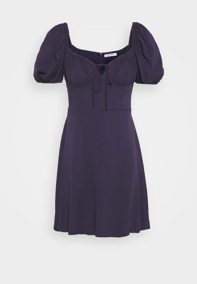 BUST DETAIL MINI DRESS - Korte jurk - purple