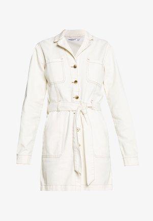 DRESS - Denim dress - ecru