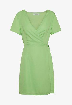RUFFLE SLEEVE WRAP DRESS - Robe d'été - green