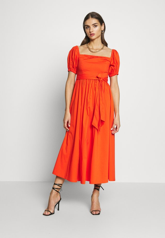 BARDOT MIDI DRESS - Vestito estivo - red/orange
