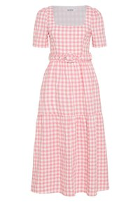 Glamorous - SHORT SLEEVE GINGHAM MAXI DRESS - Maksimekko - pink - 0