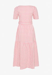Glamorous - SHORT SLEEVE GINGHAM MAXI DRESS - Maksimekko - pink - 1