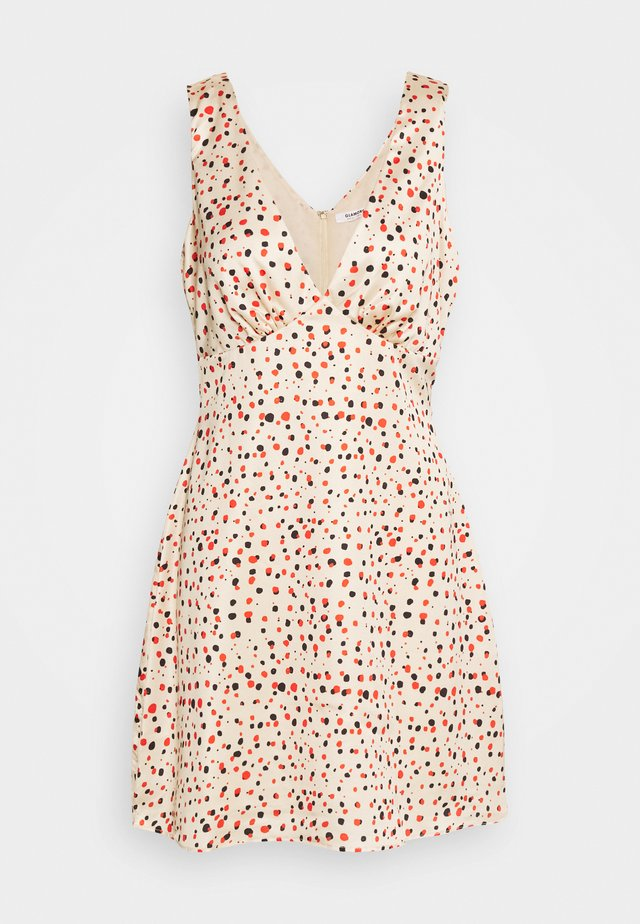 PRINTED SLEEVELESS MINI SLIP DRESS - Korte jurk - rose multi