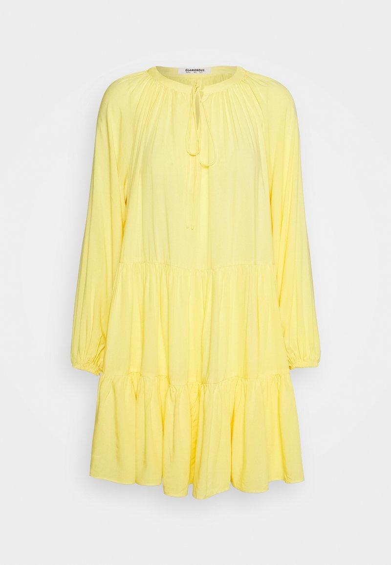 Glamorous - TIERED SMOCK DRESS - Hverdagskjoler - yellow