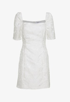 BARDOT BROCADE MIDI DRESS - Juhlamekko - white