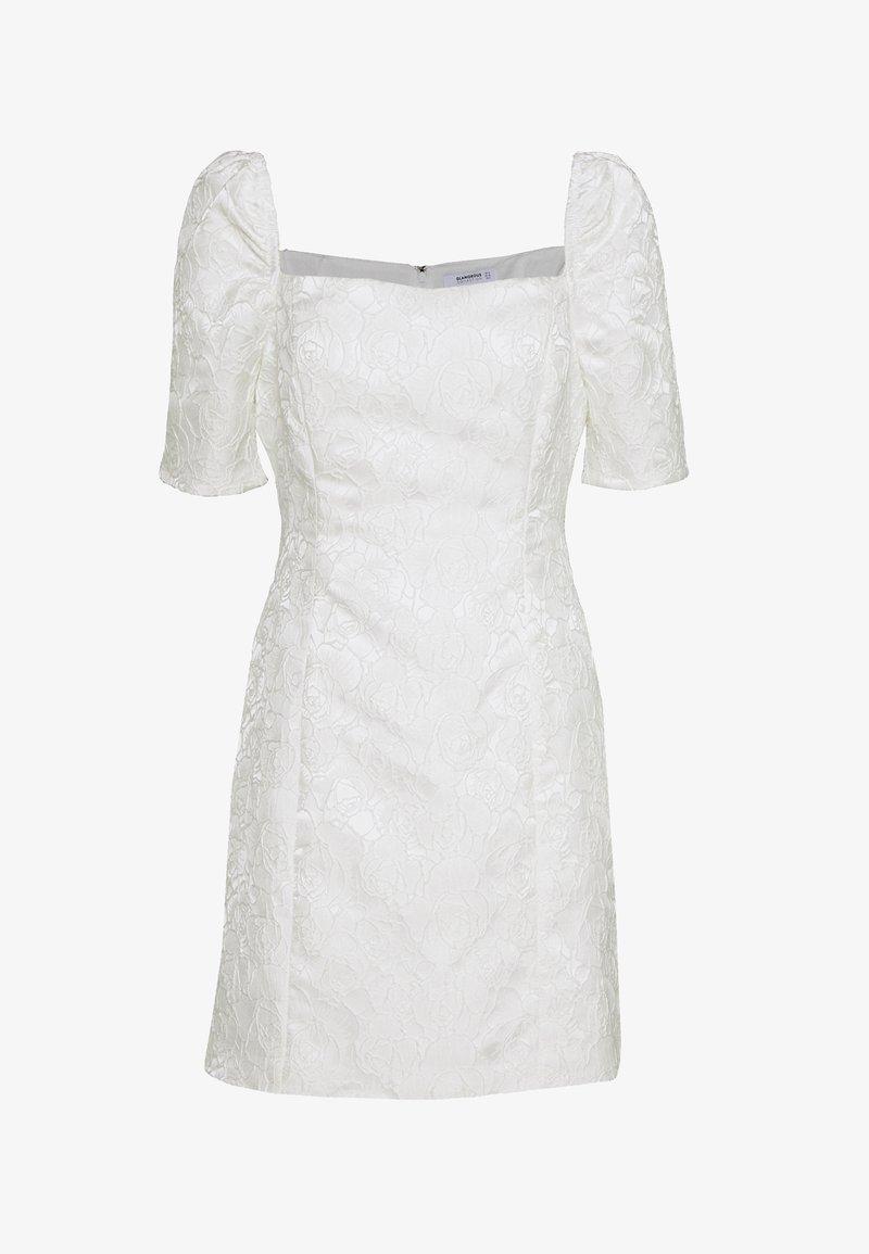 Glamorous - BARDOT BROCADE MIDI DRESS - Sukienka koktajlowa - white