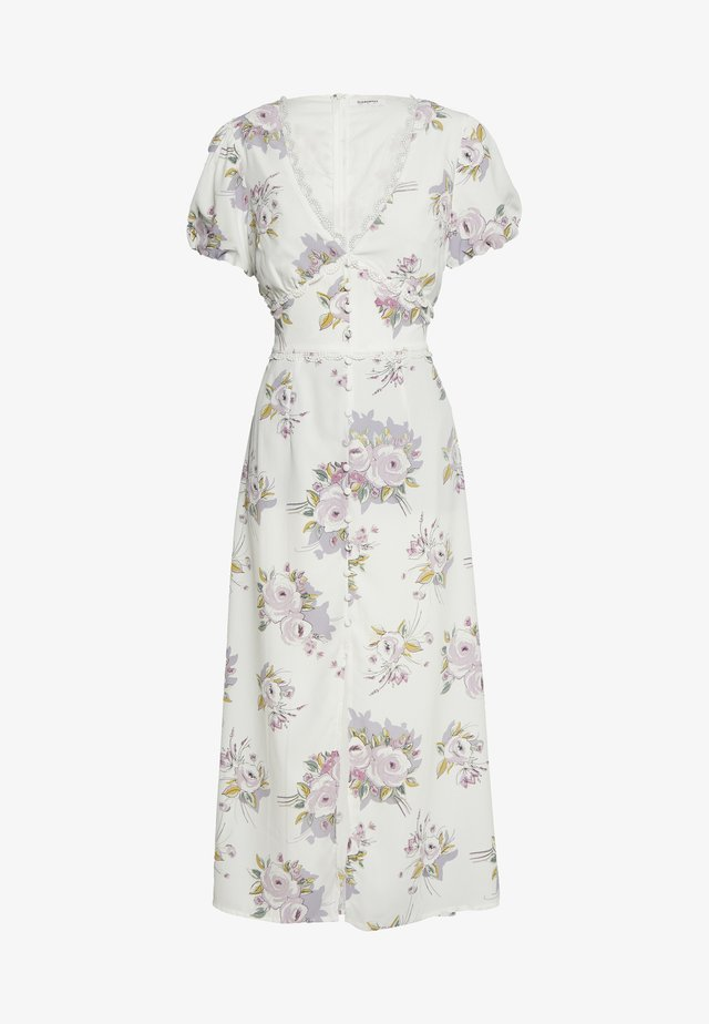 FLORAL MIDI DRESS - Korte jurk - white/lilac
