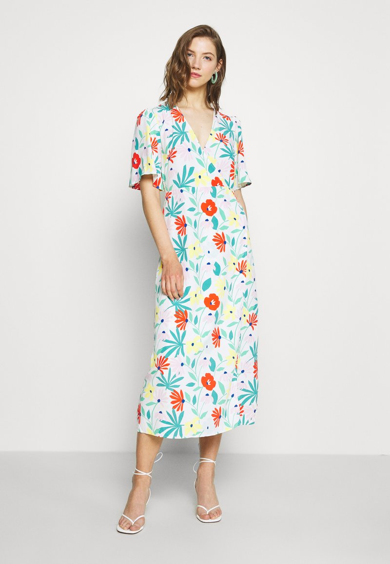 Glamorous - FLORAL WRAP DRESS WITH TIED DETAIL - Denní šaty - bright multi