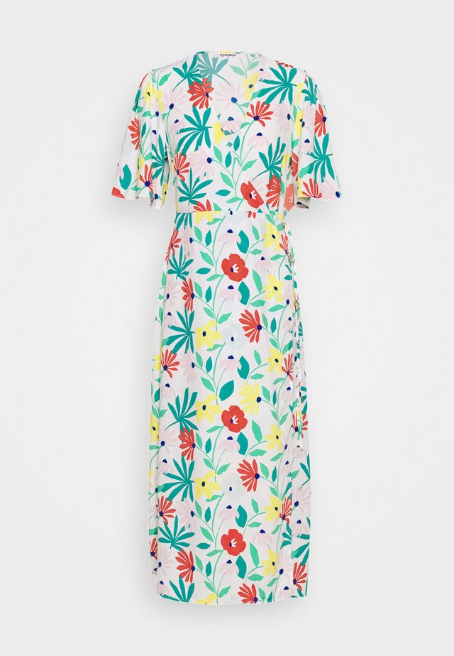 FLORAL WRAP DRESS WITH TIED DETAIL - Maxikleid - bright multi