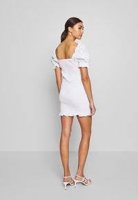 Glamorous - PUFF SLEEVE DRESS - Day dress - white - 2
