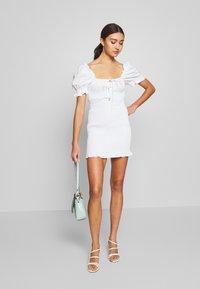 Glamorous - PUFF SLEEVE DRESS - Day dress - white - 1