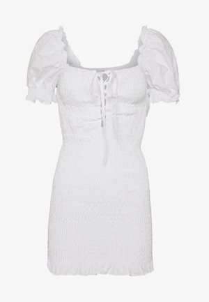 PUFF SLEEVE DRESS - Day dress - white
