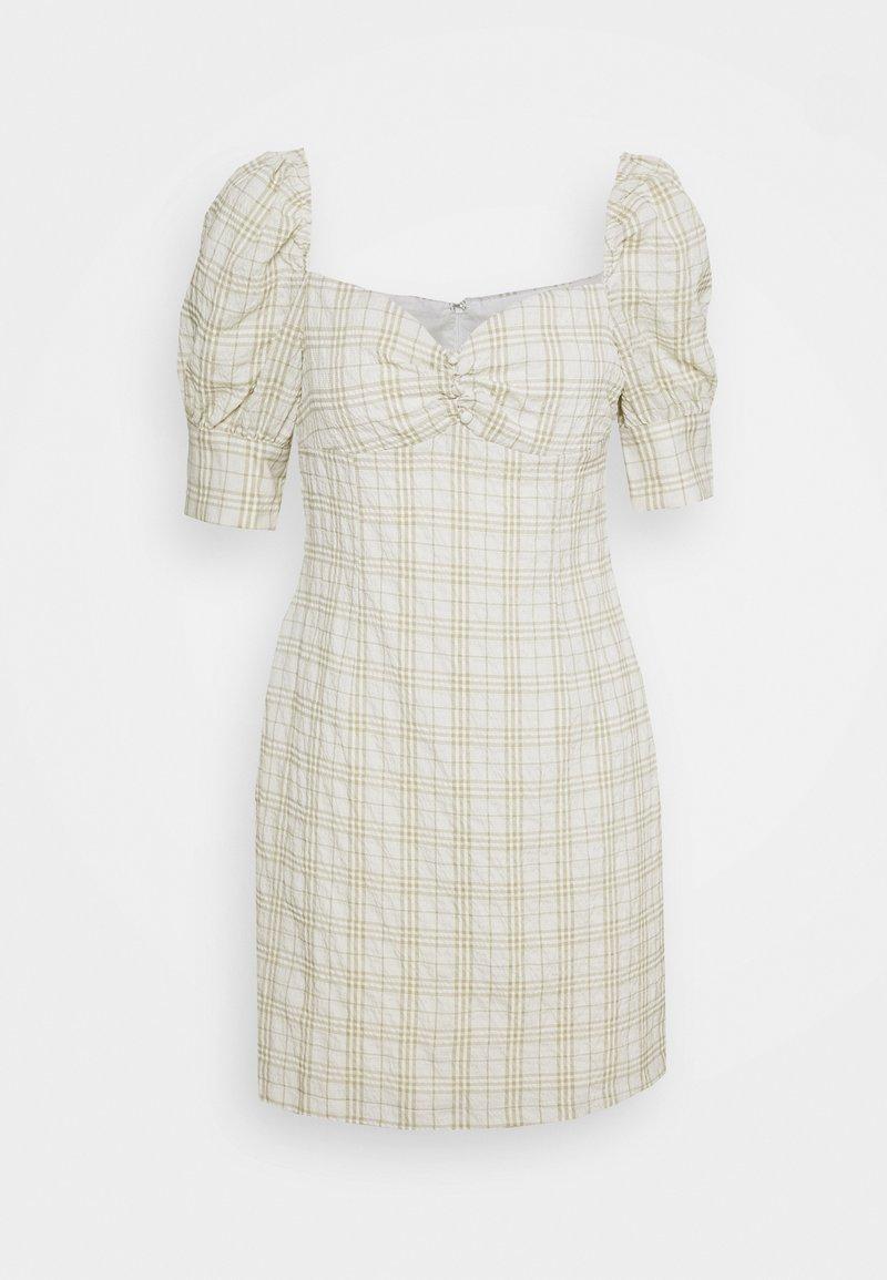 Glamorous - BUST DETAIL DRESS WITH PUFF SLEEVE - Kjole - sage