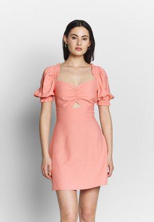 CUT OUT PUFF SLEEVE DRESS - Robe d'été - pink