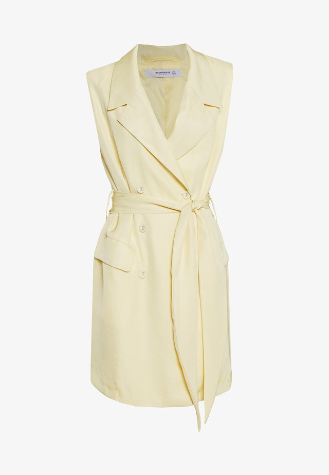 SLEEVELESS DRESS - Freizeitkleid - pastel yellow