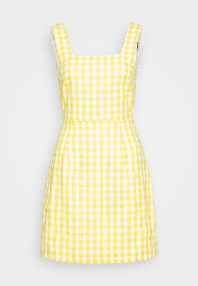 PALOMA GINGHAM TIE BACK MINI DRESS - Vapaa-ajan mekko - yellow