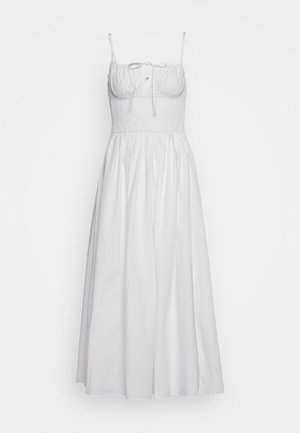 MAXI DRESS WITH RUCHED DETAIL - Robe longue - white