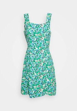 SLIP DRESS - Day dress - green abstract