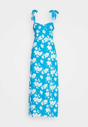 FLORAL DRESS - Maxi dress - blue/white