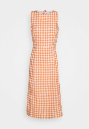 PALOMA OPEN BACK MIDI DRESS - Vapaa-ajan mekko - orange gingham