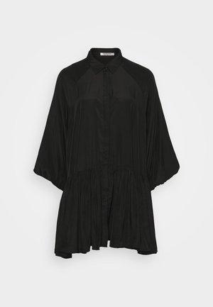 TIERED DRESS - Shirt dress - black