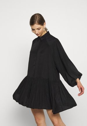 TIERED DRESS - Košilové šaty - black