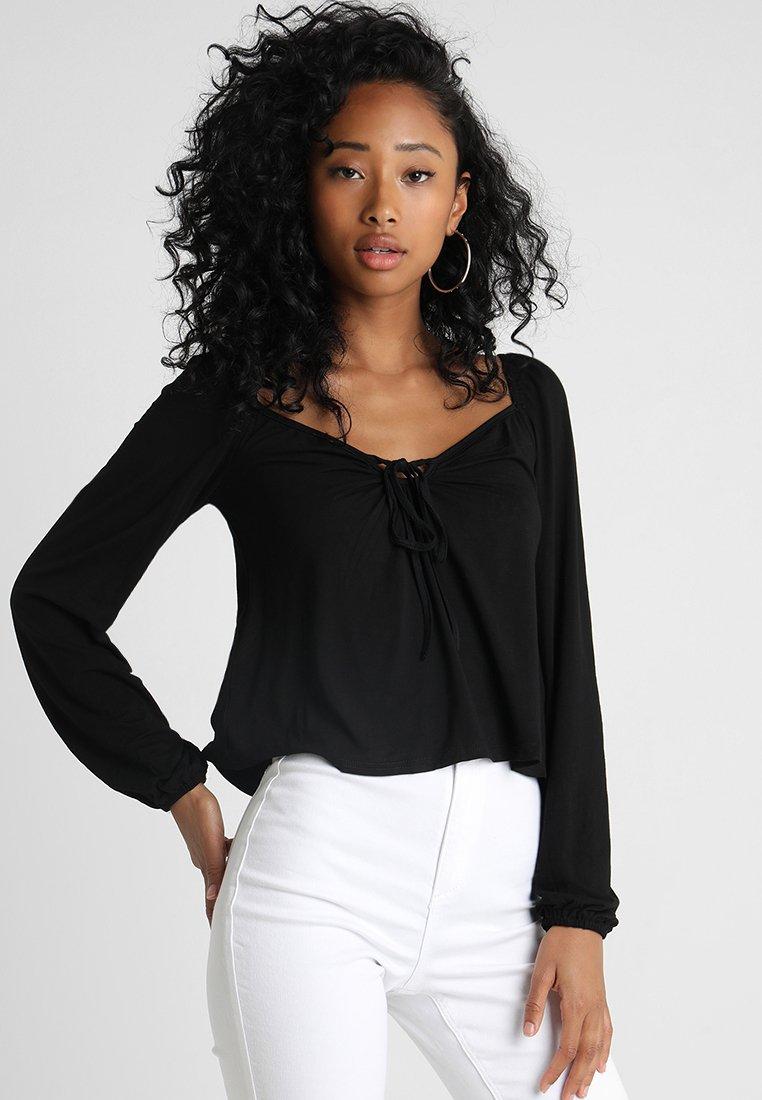 Glamorous - Langærmede T-shirts - black