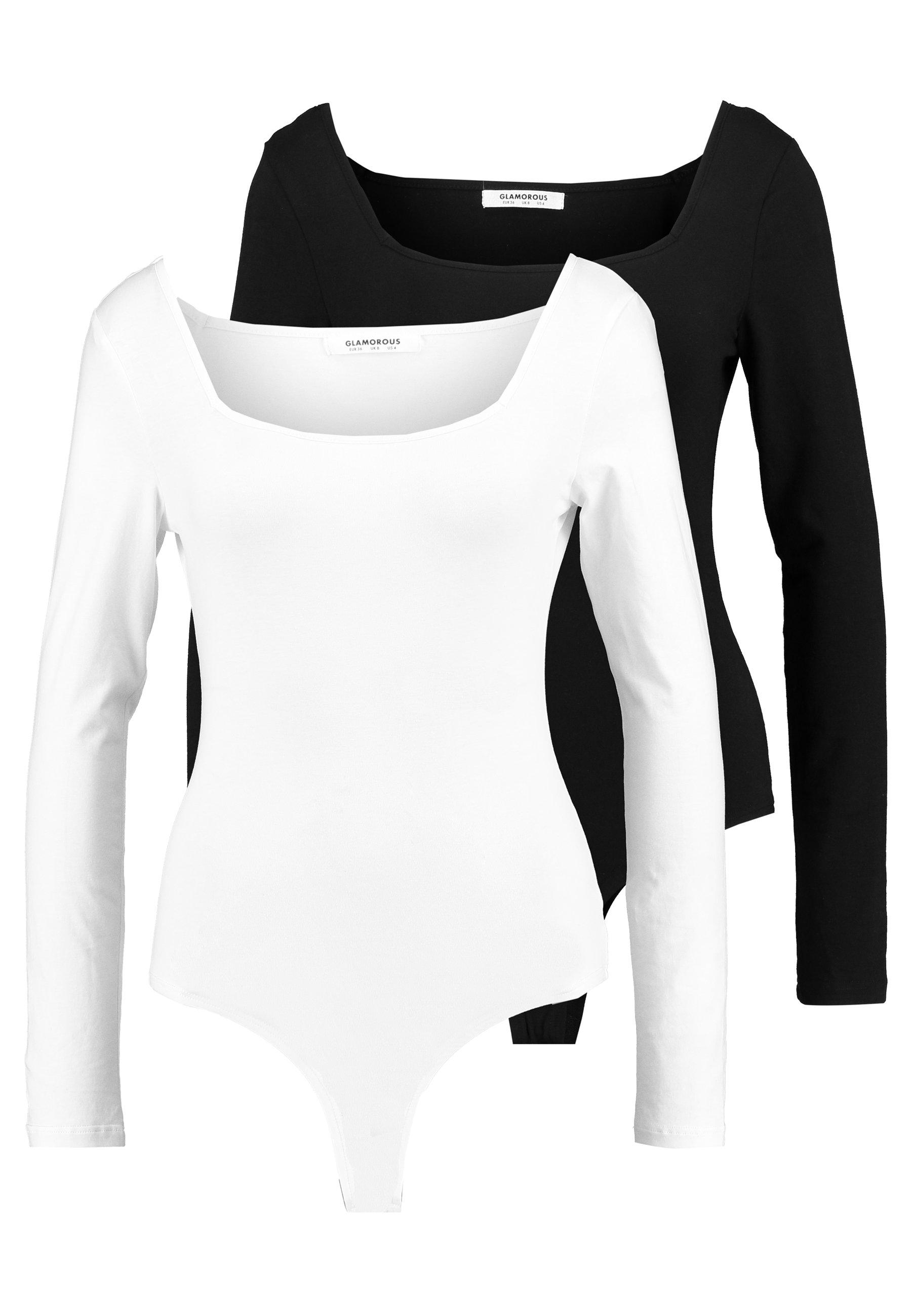 shirt Black 2 Glamorous Longues Manches PackT cream À trBdCsQohx