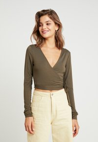Glamorous - T-shirt à manches longues - khaki - 0