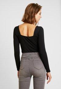 Glamorous - SQAURE NECK BODYSUIT - Topper langermet - black - 2