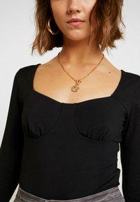 Glamorous - SQAURE NECK BODYSUIT - Topper langermet - black - 5
