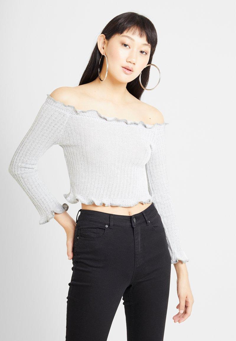 Glamorous - Long sleeved top - light grey marl