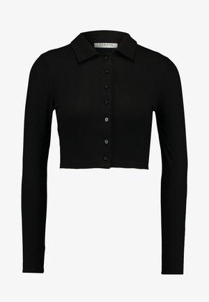 LONG SLEEVE POLO - Langarmshirt - black