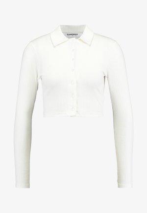 LONG SLEEVE POLO - Long sleeved top - black