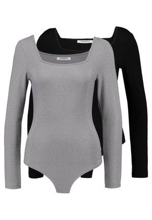 BODYSUIT 2 PACK - Langærmede T-shirts - silver/black