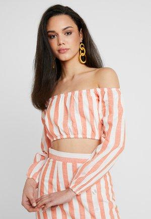 Blouse - white/orange