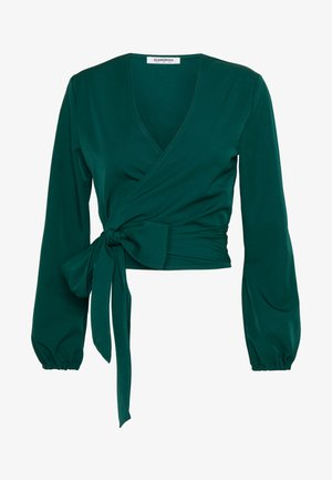 Blouse - bottle green