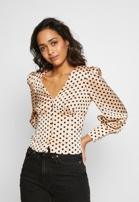 Glamorous - BUTTON FRONT - Blouse - peach black spot - 0