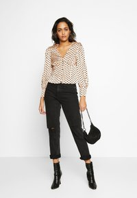 Glamorous - BUTTON FRONT - Blouse - peach black spot - 1