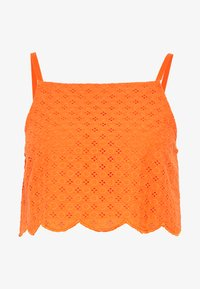 Glamorous - BRODERIE ANGLAIS CROP  - Bluzka - bright orange - 3