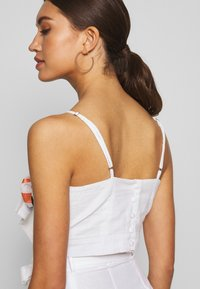 Glamorous - BOW FRONT TOP - Top - white/red - 3