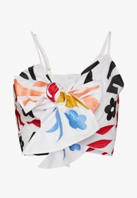 Glamorous - BOW FRONT TOP - Top - white/red - 4