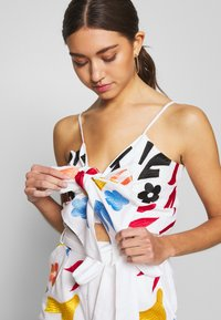 Glamorous - BOW FRONT TOP - Top - white/red - 5