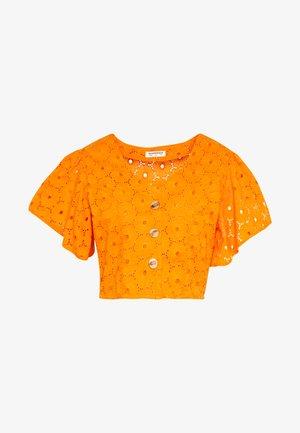 ANGLAIS CROP BLOUSE - Blouse - bright orange