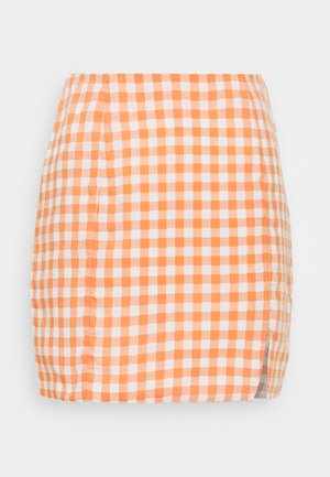 PALOMA GINGHAM MINI SKIRT - Minirock - orange gingham
