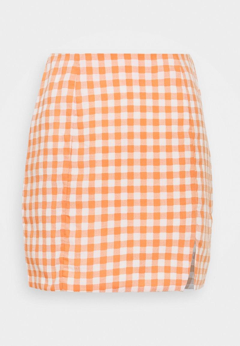 Glamorous - PALOMA GINGHAM MINI SKIRT - Miniskjørt - orange gingham