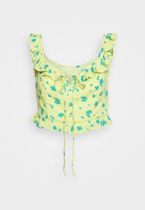 FLORAL CROP - Bluzka - yellow