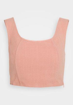 BUSTIER CROP TOP WITH WIDE STRAPS - Bluser - pink